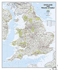 England und Wales Landkarte