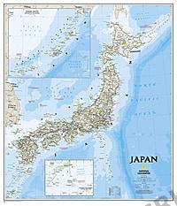 Japan & Korea Landkarte Poster