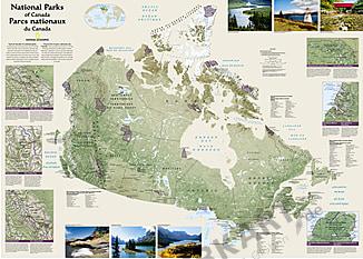 Plakat af nationalparker i Canada af National Geographic