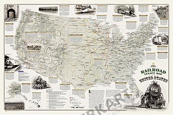 Historien om den amerikanske Jernbanen 91 x 61cm