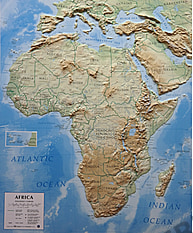 3D Relief Map Africa