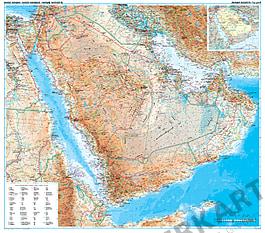 Saudi Arabien Karte physikalisch
