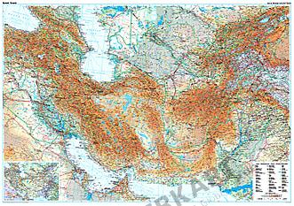 Seidenstraße Länder Landkarte Poster