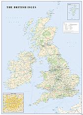 Britische Inseln Straßenkarte englisch 68 x 95cm