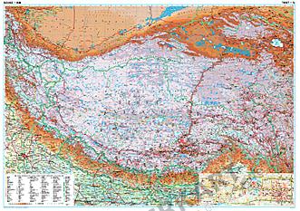 Tibet Landkarte physikalisch