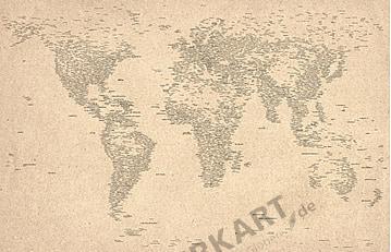 Typographic World Map english 100 x 65cm