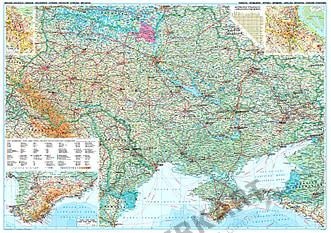 Ukraine / Moldawien Landkarte Poster