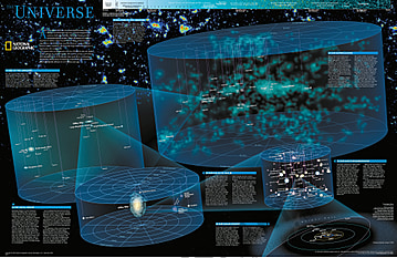 The Universe Wall Map Poster from National Geographic