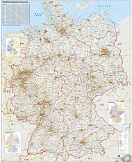 Verkehrswegekarte Deutschland 97 x 119cm