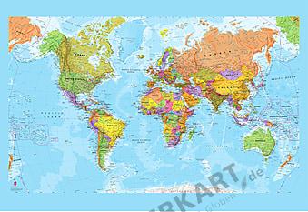 Politische Weltkarte XL
