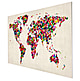 Weltkarte Schmetterling 90 x 60cm