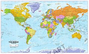 Politische Weltkarte (GM) englisch - Vliestapete 300 x 184cm