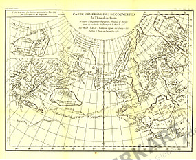 1892 Entdecker Karte des Admiral de Fonte 40 x 33cm