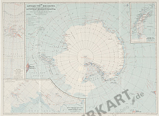 1932 Antarctic Regions Map - National Geographic