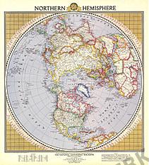 1946 Nördliche Hemisphäre 54 x 61cm