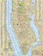 1964 Tourist Manhattan Map National Geographic