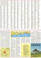 1971 Frankreich Reisekarte Seite 2 58 x 82cm