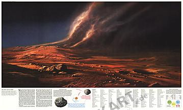 1973 - Das staubige Gesicht des Mars 96 x 58cm