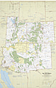 1977 Southwest Map 58 x 89cm