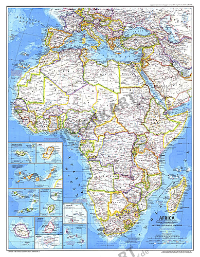 Map Of Africa 1980 NGS 1980 Africa Map