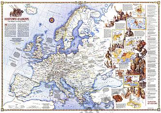 1983 Geschichte Europas - Die wichtigsten Wendepunkte 109 x 76cm
