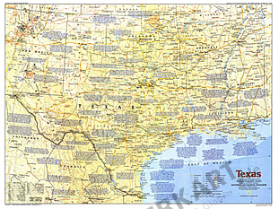 1986 Texas Map Side 1