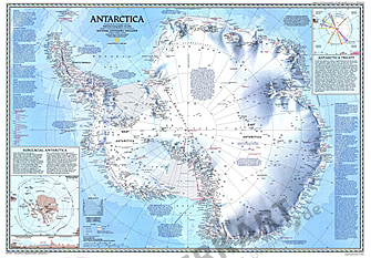 1987 Antarctica Map - National Geographic