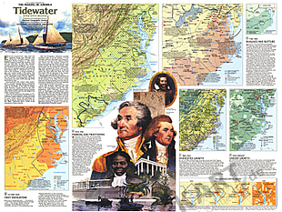 1988 Tidewater And Environs Map Side 2 National Geographic