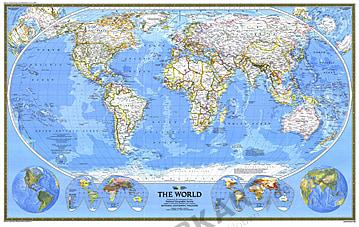 1988 Weltkarte 117 x 73cm