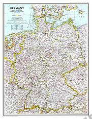 1991 Germany Map 51 x 66cm
