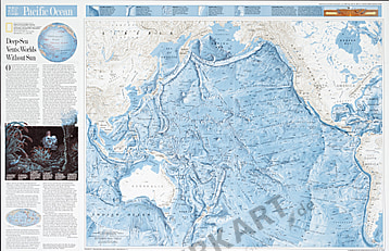 1992 Pacific Ocean Map - National Geographic
