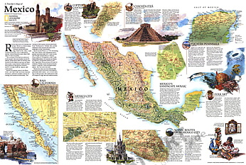 1994 Travelers Map Of Mexico Map from National Geographic