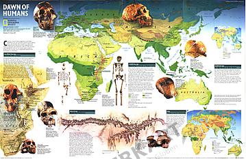 1997 Fundorte der Menschheit 78 x 51cm