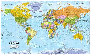 Køb nu online politisk verdenskort som en digital fil! - XYZ Maps