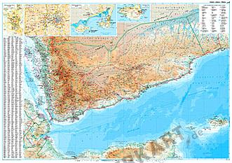 Jemen Landkarte als Poster