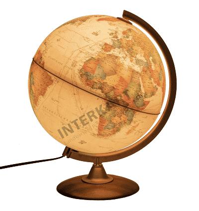Globus im antiken Stil – mit aktuellem Kartenbild und zum Top-Preis!